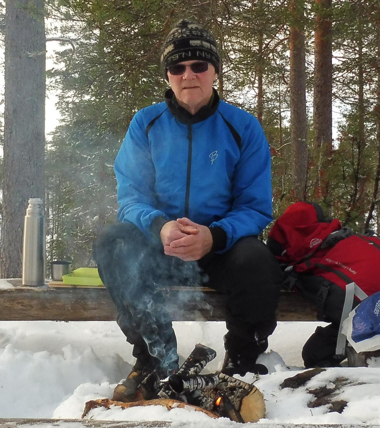 Mæ sjøl på fjellet vinteren 2019